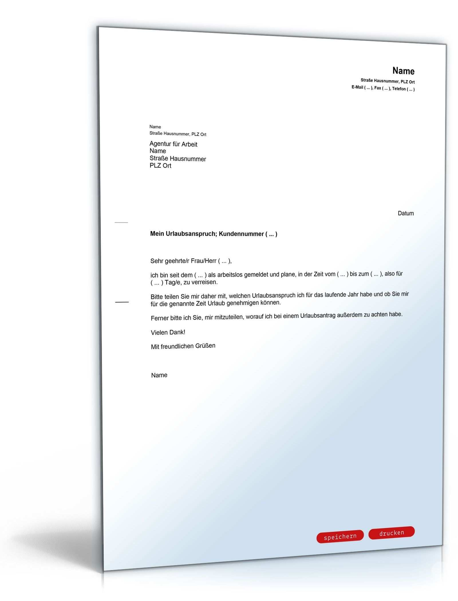 Neu Urlaubsantrag Excel Briefprobe Briefformat Briefvorlage