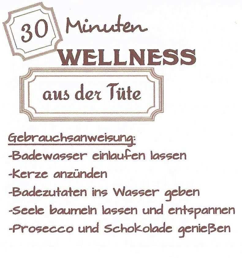 30 Min Wellness Aus Der Tute Wellness Geschenke Geburtstag
