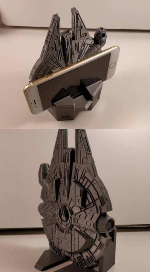 3d Printed Millennium Falcon Smartphone Stand 3d Printing Diy