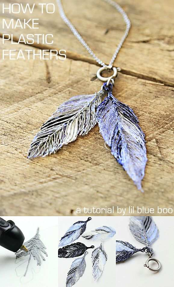 How To Make A Plastic Feather Necklace Lil Blue Boo 3d