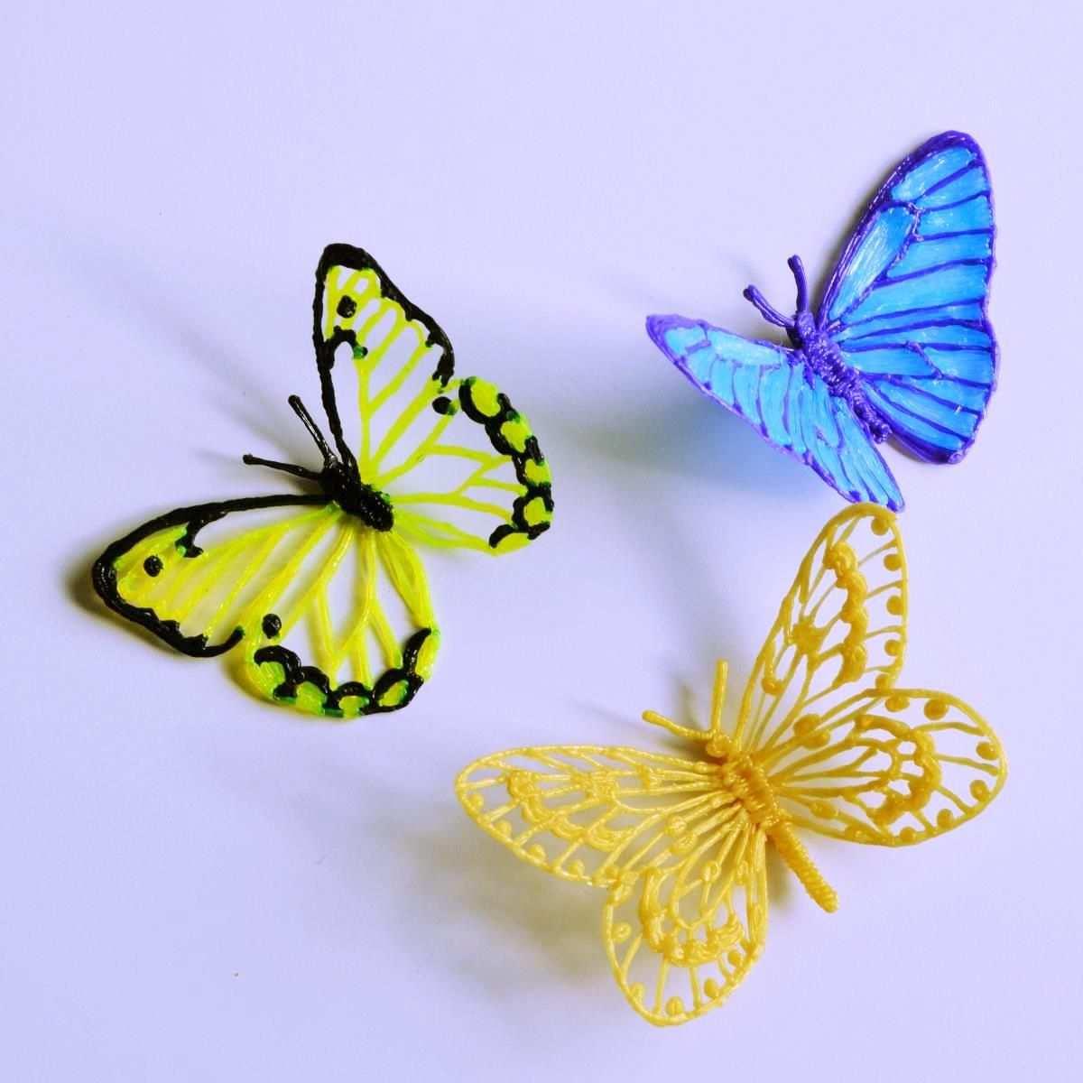 Draw A Butterfly With 3d Pen 3d Zeichenstift Stifte 3 D