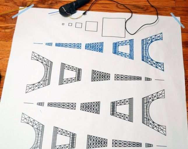 3doodler Eiffelturm Zeichnung 3d Pen 3d Pen Stencils 3d