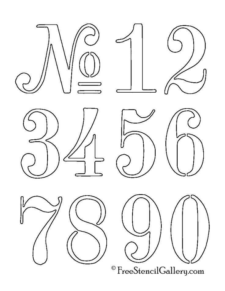 Numbers Stencil Molde De Numeros Tatuagem De Numeros Molde