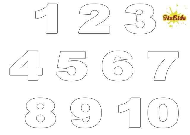 Zahlen 1 10 Zum Ausdrucken Kostenlos Zahlen Vorlagen Zahlen Zum