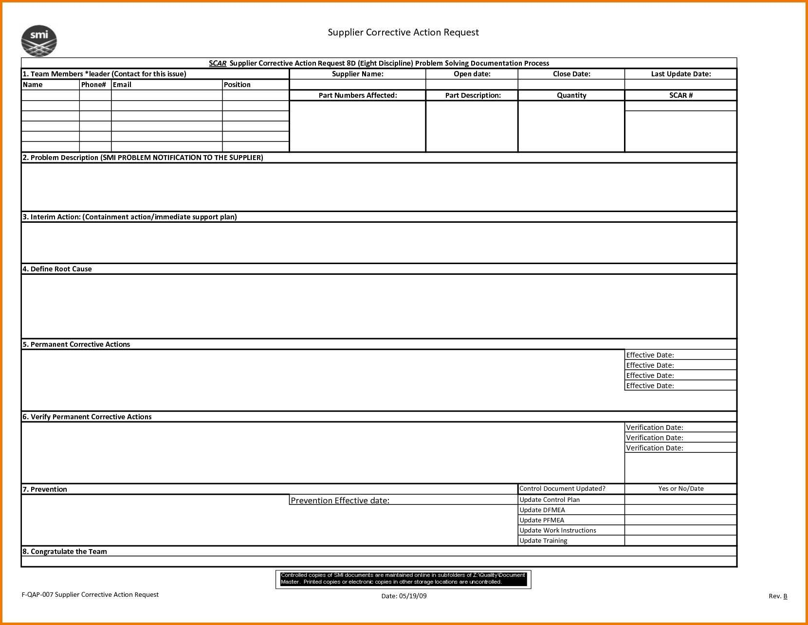 8d Report 2 Rt Template Pdf Excel Download Free Doc Examples For