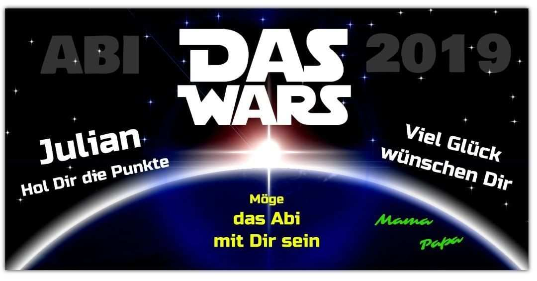 Xlprintservice Xlprintservice Abibanner Abi Plakat Star Wars
