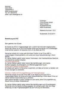 Bewerbungsschreiben Muster Vorlagen Schweiz Bewerbung