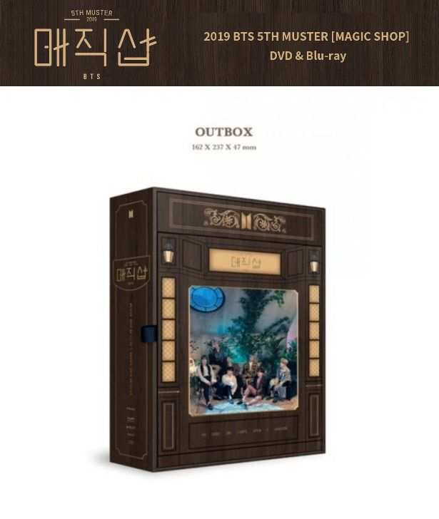 Bts Bts 5th Muster Magic Shop Blu Ray 4dvds Photo Book 32p Lenticular Card 2020