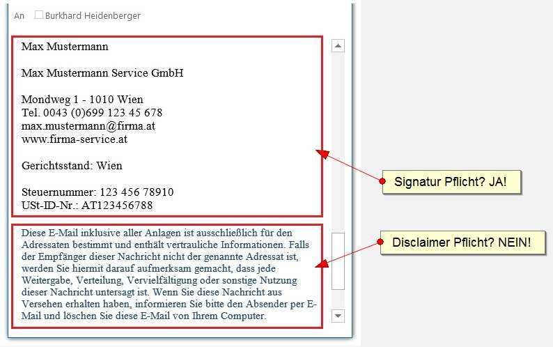 E Mail Disclaimer Pflicht Oder Nicht Fragen Antworten Inkl