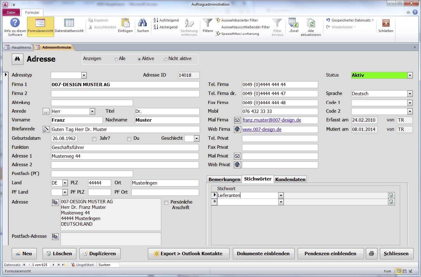 Beispiele Von Access Datenbanken Access Software Und Access Tools