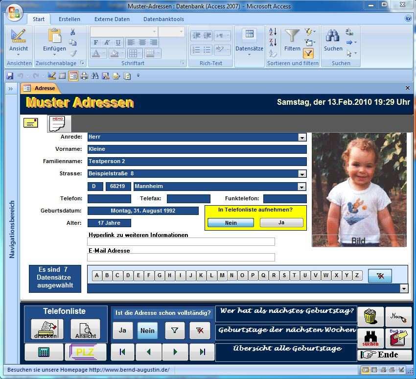 Adressen Datenbank Access Beispiele Zum Kostenlosen Download