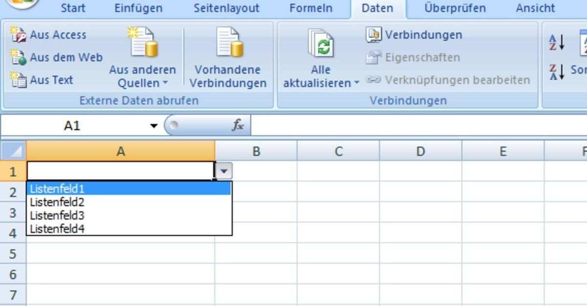 Excel Dropdown Liste Erstellen Auswahlliste So Geht S