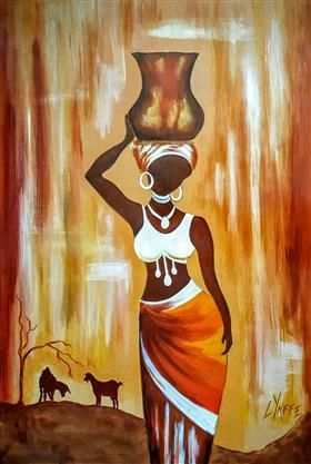 L Yaffe In 2020 Afrikanische Kunst Abstrakte Malerei