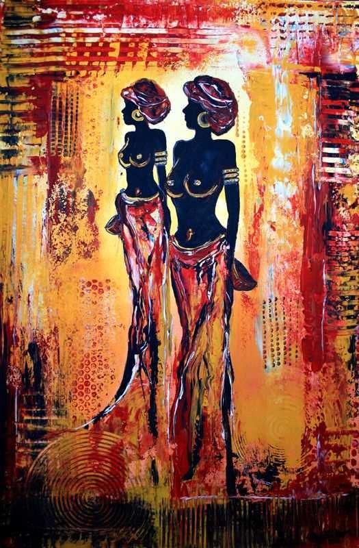 F 3 Figuerliche Malerei Figurative Wandbilder Afrika Women