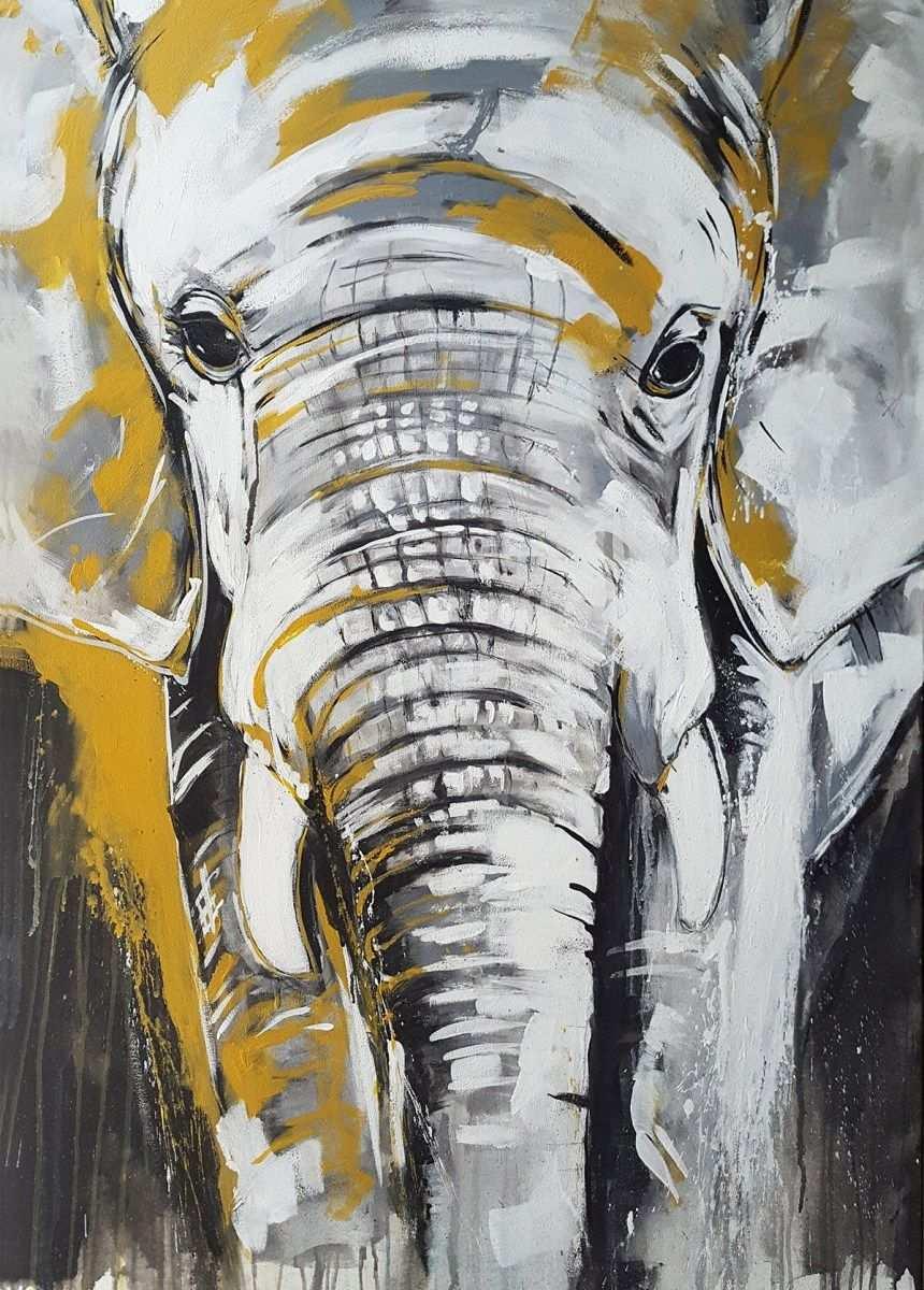 Kunstdruck Elefant Exklusive Wandbilder Afrika Kunst Aus Dem