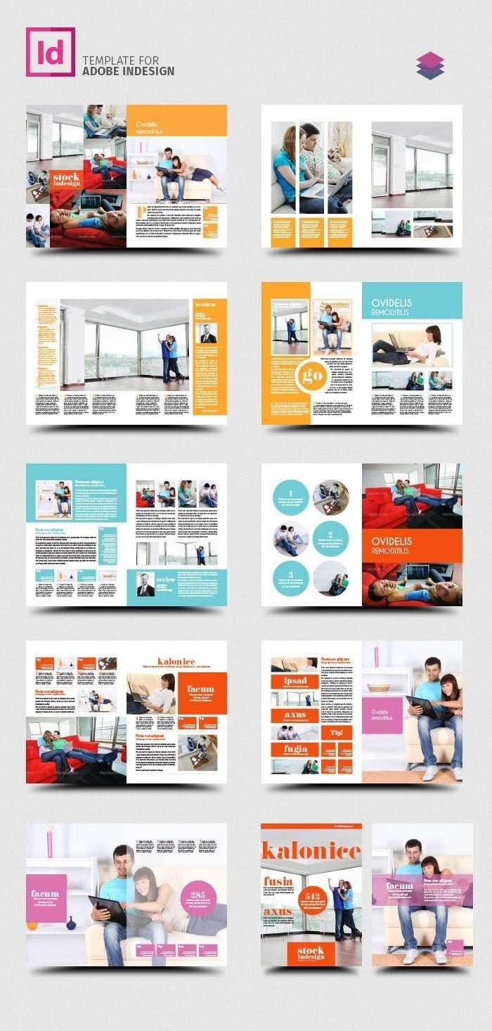 Kostenlose Indesign Pro Magazine Vorlage Kalonice Seiten Layout