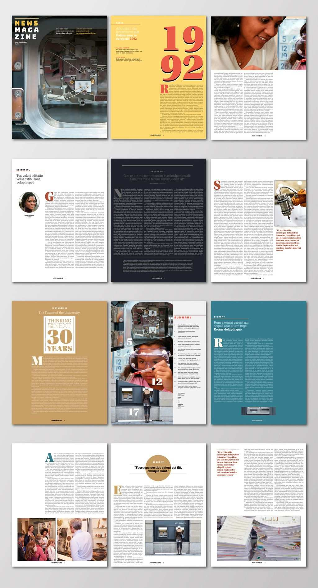 Free Artist Made Templates Now In Indesign Magazine Design