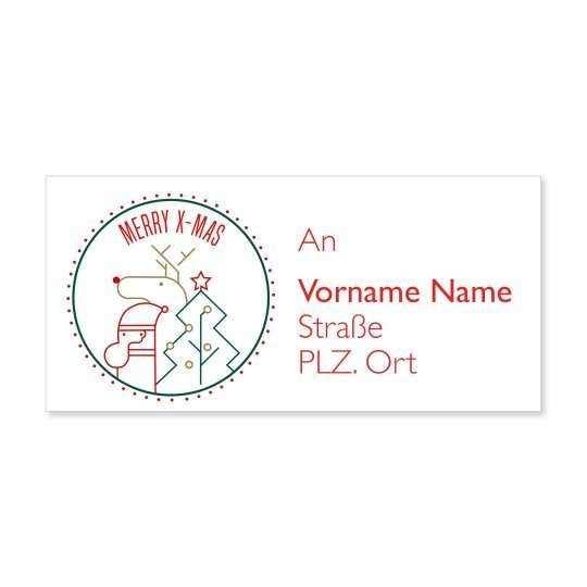 Weihnachtliche Adress Etiketten Kostenlose Vorlagen Fur Deine