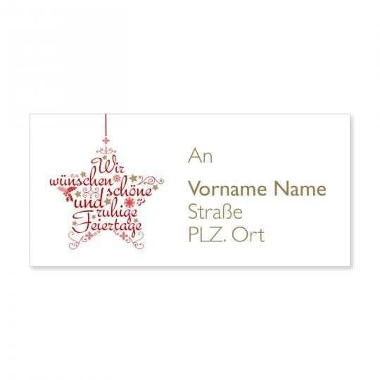 Unsere Kostenlosen Vorlagen Fur Weihnachtliche Adressetiketten