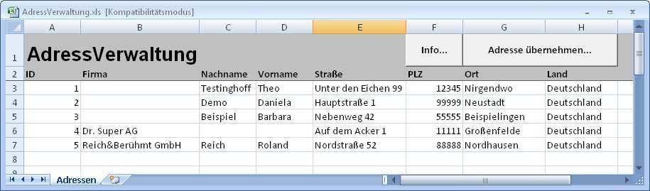 Clevere Adressverwaltung Mit Excel Akademie De