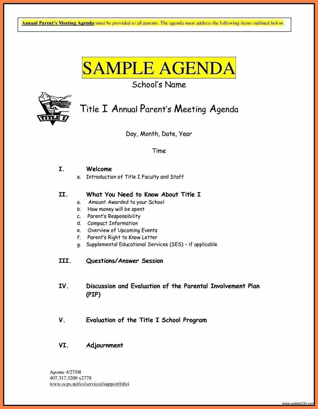 8 Free Business Meeting Agenda Template Word In 2020 Meeting
