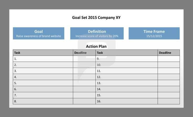 Smart Ziele Fur Powerpoint Aktionsplan Ziel Definition
