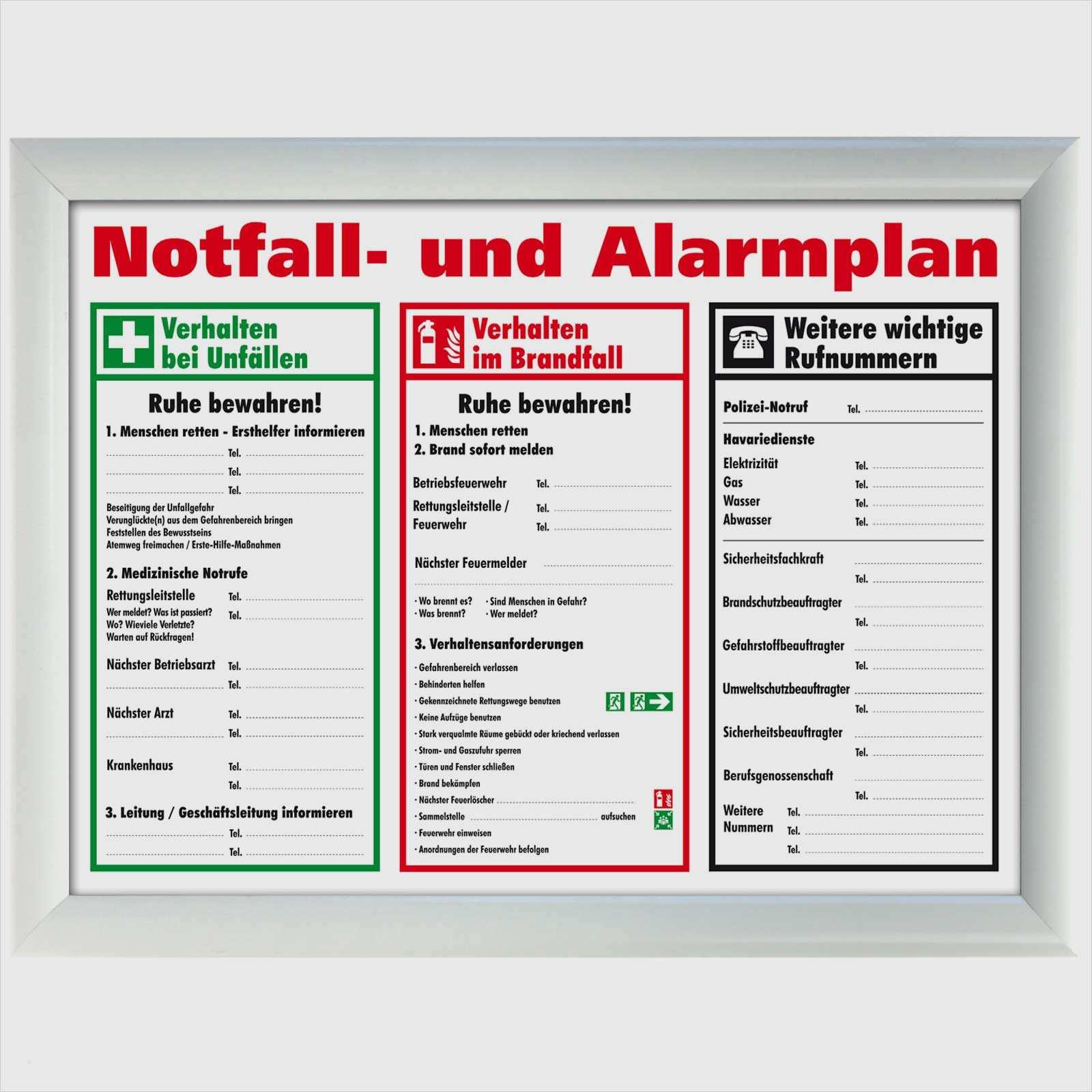18 Fabelhaft Notfall Und Alarmplan Vorlage Word Praktisch Jene