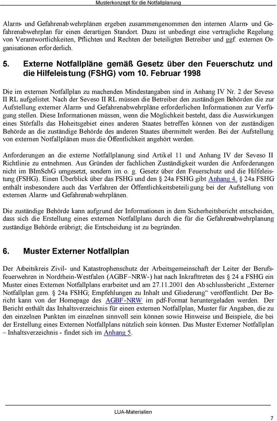 Musterkonzept Fur Die Notfallplanung Pdf Kostenfreier Download
