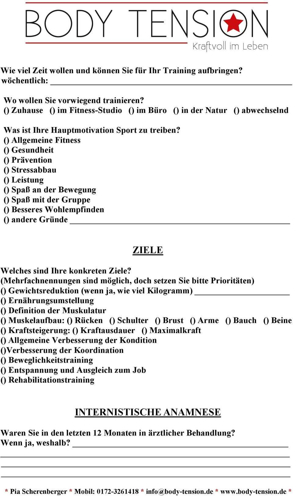 Personal Anamnesebogen Pdf Free Download