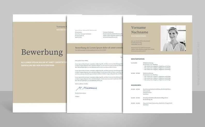 Bewerbung Napea Mit Lebenslauf Deutsch Vorlage Muster Fur