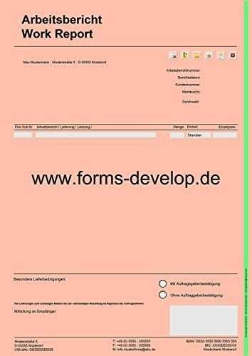 Arbeitsberichte Rapportzettel Leistungsnachweis Pdf A4 H