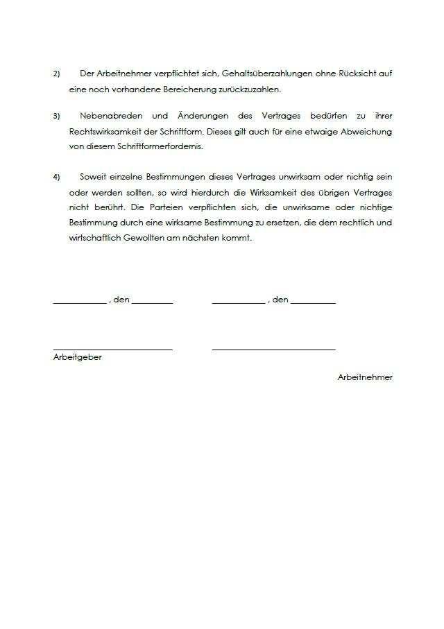 Rechtssicherer Arbeitsvertrag Hausmeister Vorlage Zum Download