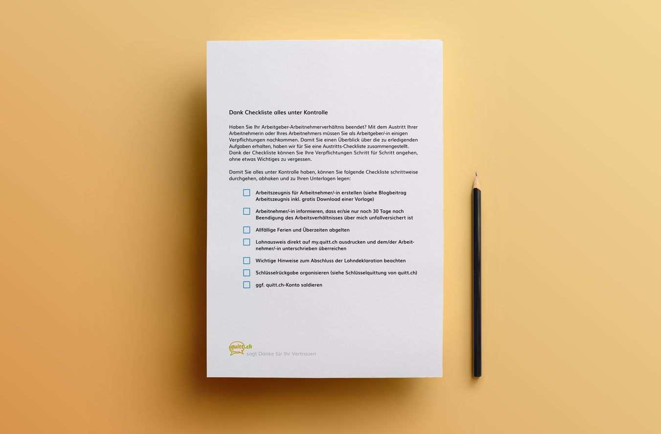 Alles Unter Kontrolle Dank Austritts Checkliste Fur Arbeitgeber