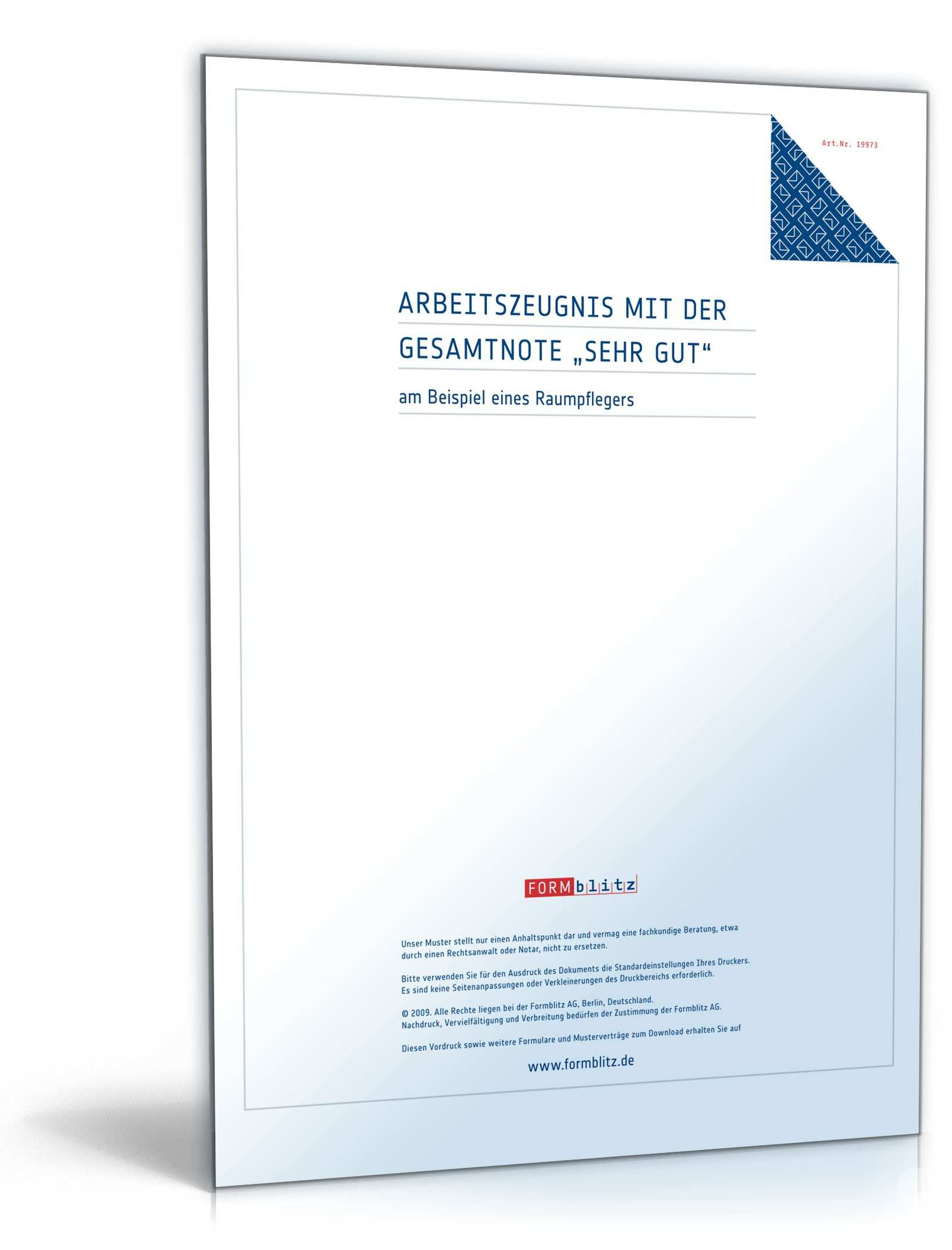 Arbeitszeugnis Raumpflegerin Rechtssichere Muster Downloaden