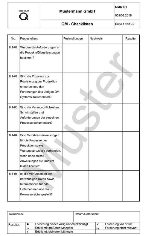 Audit Checkliste Kostenlos