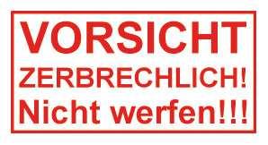 Vorsicht Zerbrechlich Logo Zum Ausdrucken Versand Spedition