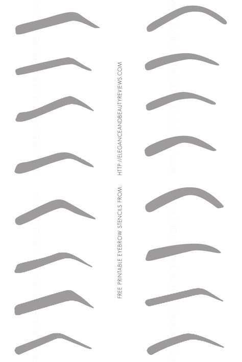 Free Printable Eyebrow Stencils Jpg Jpeg Grafik 2038 3052