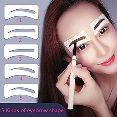 10 Pairs Augenbrauen Schablone Vanyda Einweg 5 Stil Eyebrows