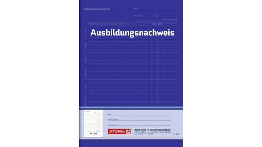 Brunnen Berichtsheft A4 Fur Tagesberichte Online Bestellen Muller