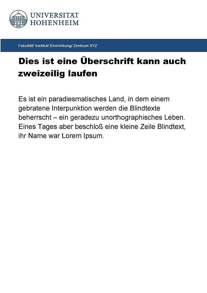 Ankundigung Aushang Universitat Hohenheim