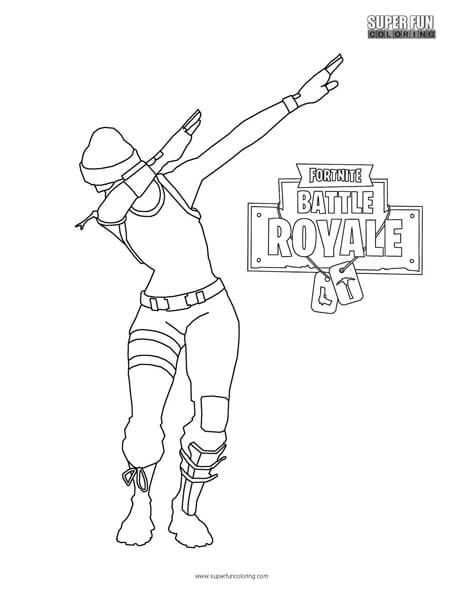 Fortnite Dab Coloring Page Desene Pinterest Of Vorlagen Zum