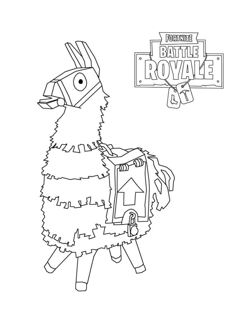 Fortnite Coloring Pages Clipart Battle Royale Lama 20 Cool