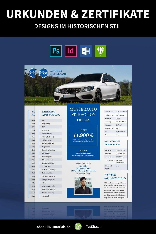 Exposes Fur Auto Fahrzeug Vorlagen Zum Autoverkauf Fahrzeuge