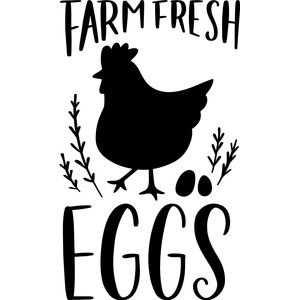 Farm Fresh Eggs Silhouette Design Idee Huhner