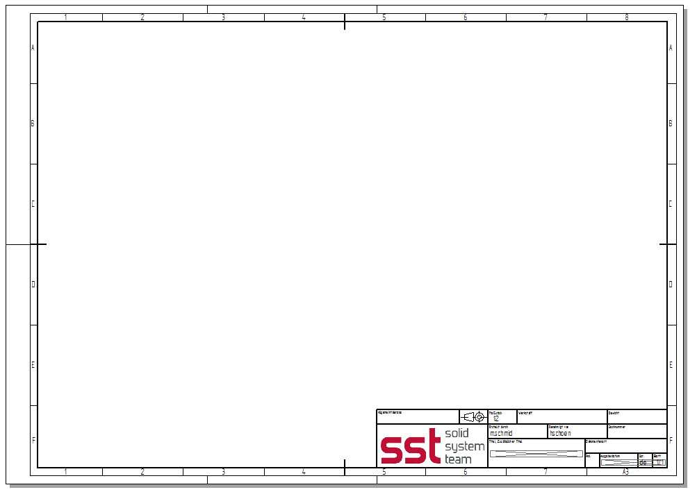 Zeichnungsvorlage Nach Aktueller Din Norm Ab St4 Cad Helpdesk De