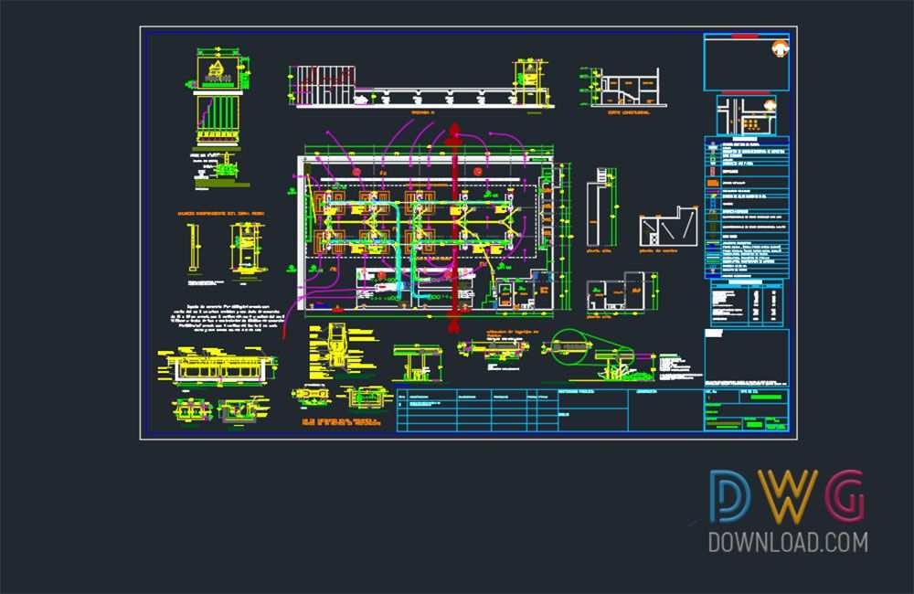 Dwg Download Gas Station Dwg Project Mimari