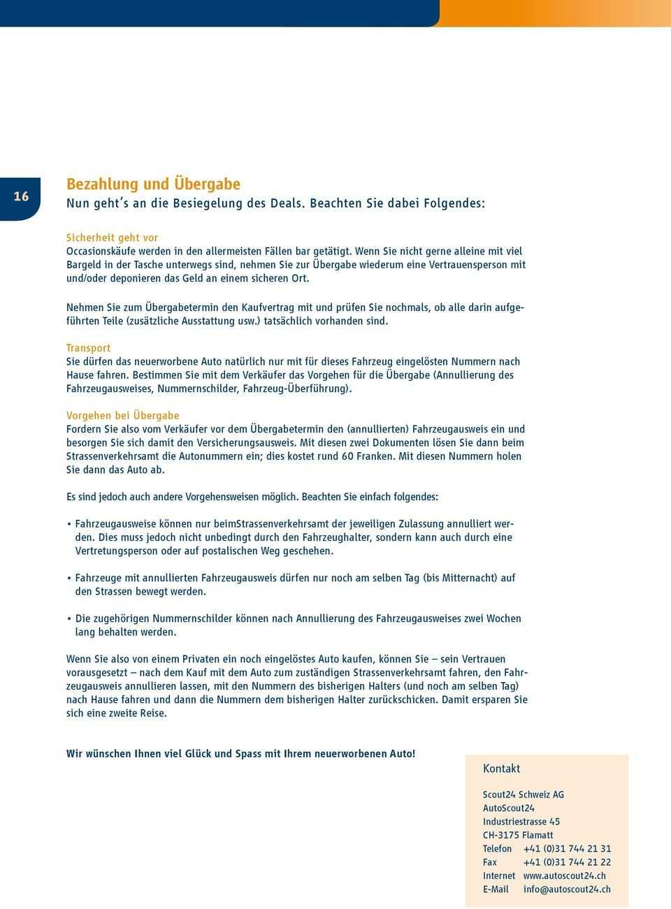 Autoscout Kaufvertrag Vorlage