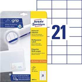 Avery Zweckform Labels 70x42 3mm White 10 Sheets 3652 10
