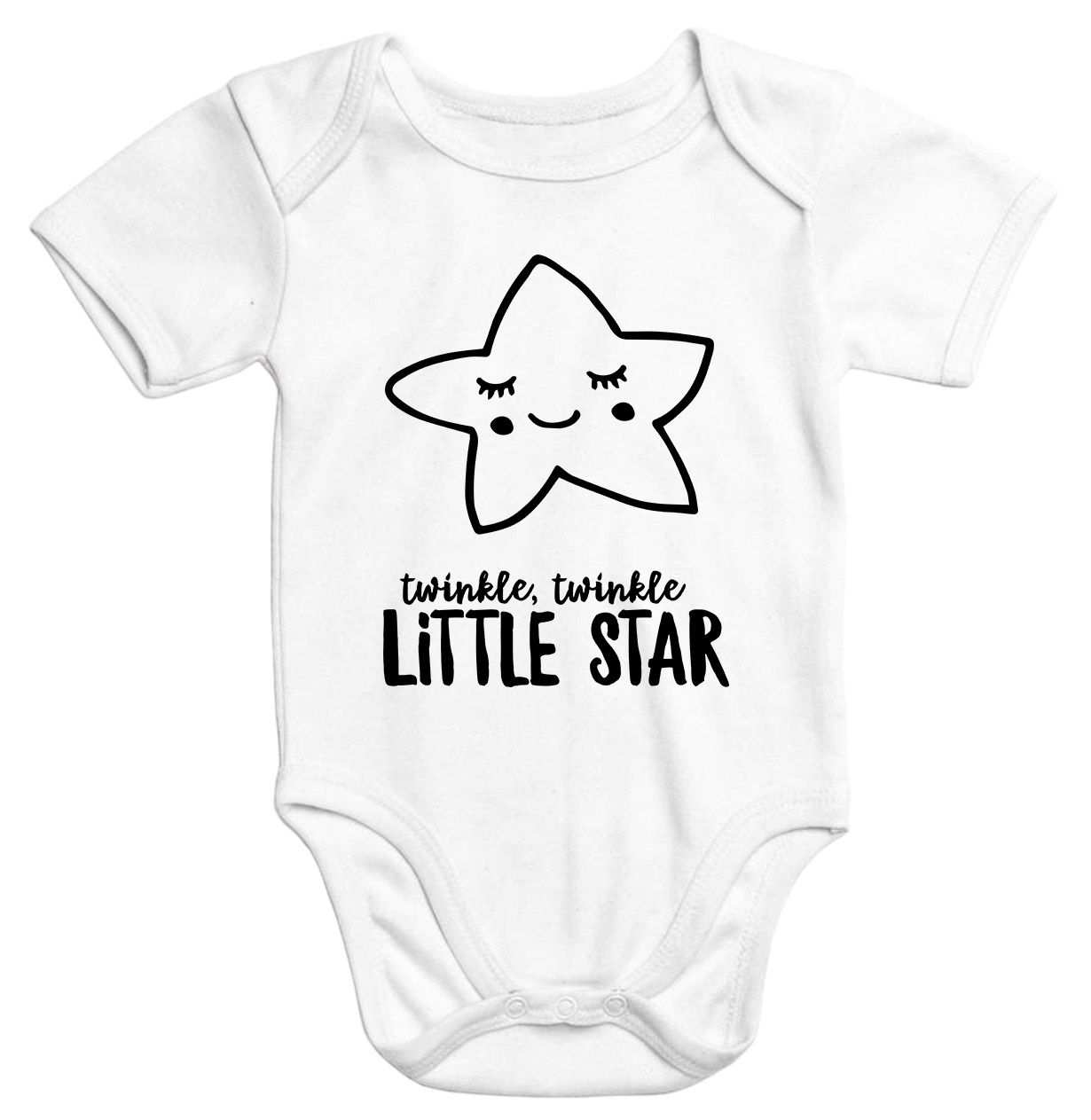 Baby Body Mit Stern Aufdruck Twinkle Twinkle Little Star Bio
