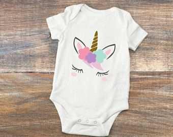 Einhorn Baby Body Niedlichen Einhorn Strampler Baby Dusche